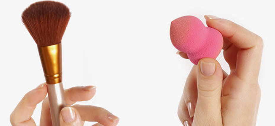 Is it better to use a brush or beauty blender for foundation?